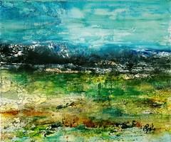"""""""Tenger"""" szignózott eredeti absztrakt festmény Közvetlen a művésztől!"""