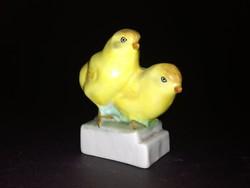 Aquincum sárga porcelán csibe madár duó - EP
