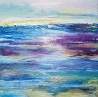 """""""Csend"""" szignózott eredeti absztrakt festmény Közvetlen a művésztől!"""
