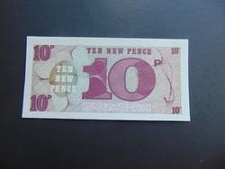 10 pence angol katonai pénz UNC