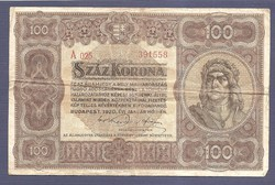 100 Korona 1920 A025