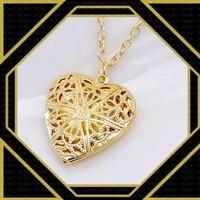 Aranyozott  nyaklánc nyitható szív medállal  ABL-T20