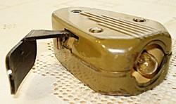 II. világháborús német, katonai, dinamós lámpa (1943) (Philips 7424)