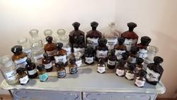 Hatalmas antik patika / gyógyszertári üveg gyűjtemény!