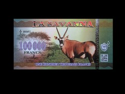 UNC - 100 000 FRANC - LA SAVANNA BANKJEGY - 2016