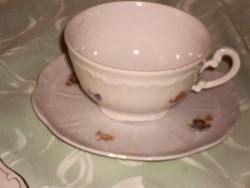 Zsolnay régi apró virágos teás csésze
