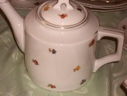 Zsolnay régi apró virágos teás kanna