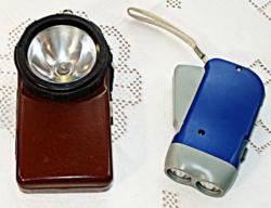 RETRO zseblámpák, elemlámpa, dinamós lámpa