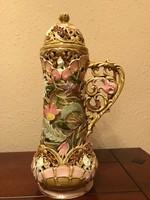 Zsolnay antik diszváza 34 cm