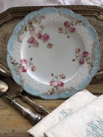 Rózsás porcelán kínáló tál!!Csodaszép!!