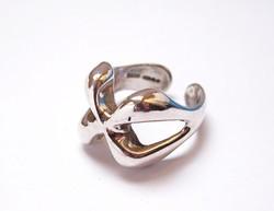 Angol ezüst design gyűrű.
