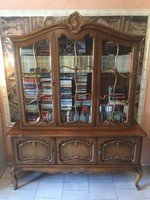 Warrings vitrines tálaló vagy könyvszekrény 203x160x50cm