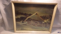 Nagy Gábor olaj-fa téli lak festmény