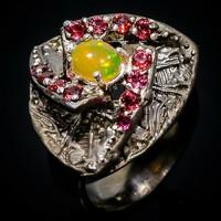 Valodi Tuz Opal (Etiopiabol) Granat 925 Ezust Gyuru