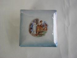 Drasche porcelán jelenetes bonbonier