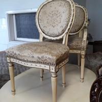 Antik empire étkezőasztal 2 szék és 2 karosszékkel