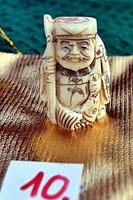 Antik, kézi faragású eredeti Csont Netsuke szobor akciós áron, visszavonásig. (10)