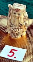 Antik, kézi faragású eredeti Csont Netsuke akciós áron, visszavonásig. (5)