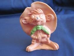 Régi csipogó gumi játék sípolós rajzfilm figura