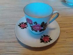 Régi Német porcelán kávés csésze kistányéral