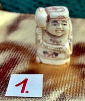 Antik, kézi faragású eredeti Csont Netsuke akciós áron, visszavonásig.  (1.)