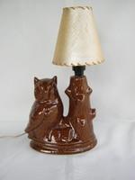 Bagoly kerámia lámpa