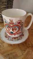Charles & Diana Duchess porcelán bögre és tányér