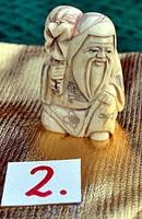 Japán antik Elefántcsont, csont Netsuke akciós áron, visszavonásig. (2.)