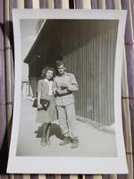 Ww2 2Vh Katona kép asszonyával 6.5x9,5 cm