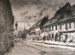 Élesdy , budavári , rézkarca , Fortuna utca