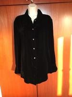 Marks&Spencer fekete bársony ing blúz egészen új nem használt nagyon szép!