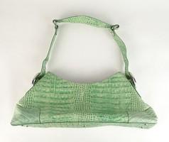0V577 Zöld Luciano Barachini bőr női táska