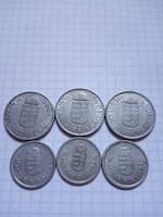 1-2 Pengő 1941 - 1944 !! 6 darab, mind különböző évszám !