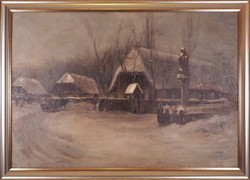 Bruck Lajos (1846–1910): Téli falu