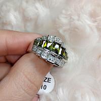 Csodálatos Peridot, Topáz köves gyűrű 10