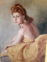 Gyönyörű balerina olaj vászon festmény