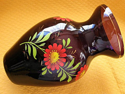 Lila retro  Ajkai festett váza