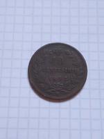 """Szép 10  Centesimi  Olaszország  1893 """"R"""" !!"""