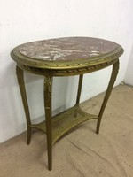 Francia barokk márványlapos asztal