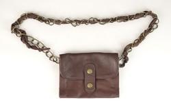0V572 Barna bőr női válltáska sling bag