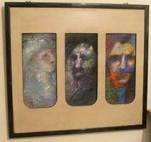 Hérics Nándor : Hármas portré,  festmény