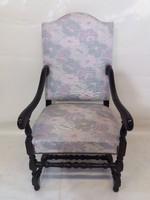 Magas támlás régi karos fotel