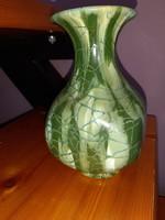 Zöld Gorka kerámia váza
