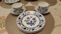Két nagyon szép meisseni mintás Marienbad Ingres Weiss teásszett tányérral!