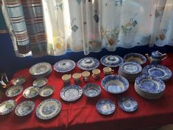 64 db kék Angol porcelán