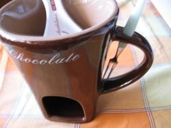 Limitált csoki fondü mártogatós bögre