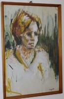 Lipták Pál festménye 38 cm X 60 cm vegyes, papír