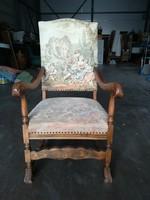 Antik gobelines fotel I.