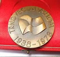 Horvát emlékérem,Trnovec 1938-1978