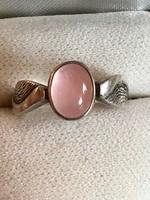 Rózsakvrac köves ezüst gyűrű